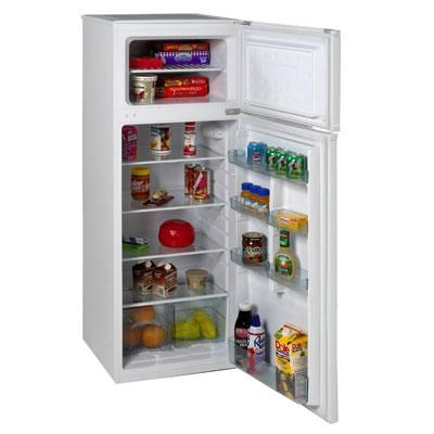 Compact 7.4 CF Apartment Refrigerator Mini Bar Office Fridge and Freezer - White