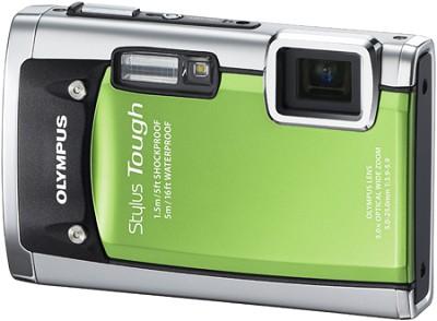 Stylus Tough 6020 Waterproof 14MP Digital Camera (Green) - OPEN BOX