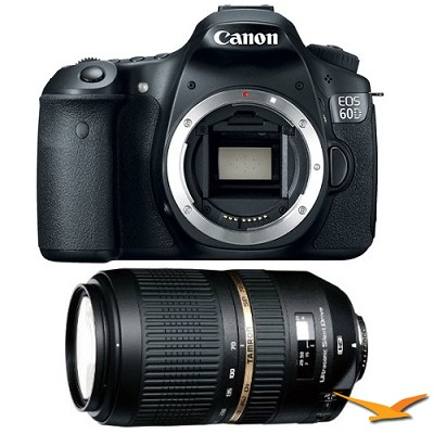 EOS 60D 18 Megapixel SLR Digital Camera AF 70-300mm Tamron Lens