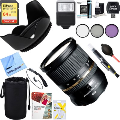 SP 24-70mm f2.8 Di VC USD Lens for Canon EOS Mount + 64GB Ultimate Kit