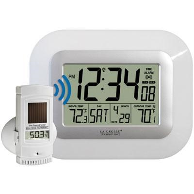 Atomic Wall Clock with Solar Power - WS-811561-W