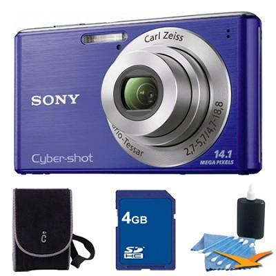 Cyber-shot DSC-W530 Blue Digital Camera 4GB Bundle