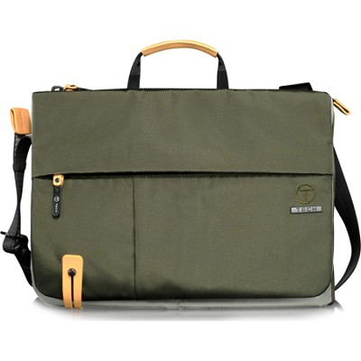 T-Tech Civilian Ryans Slim Laptop Crossbody (Green/Black)