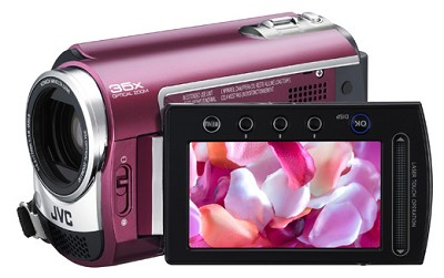 GZMG330  Hard Disk HDD/micro SD Hybrid Camcorder (Ruby Red) - Refurbished