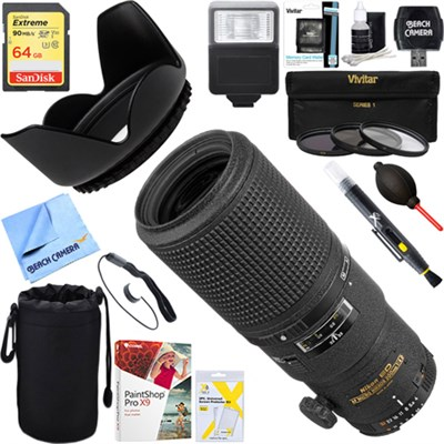 200mm F/4D AF Micro Nikkor Lens + 64GB Ultimate Kit