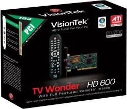 TV WONDER HD 600 PCI SINGLE TUNER