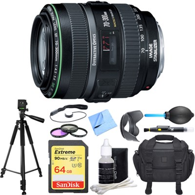 EF 70-300mm F/4.5-5.6 DO IS USM Lens Deluxe Accessory Bundle