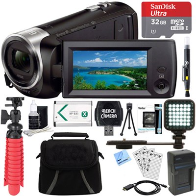 HDR-CX440 Full HD 60p Camcorder + 32GB MicroSD Accessory Bundle