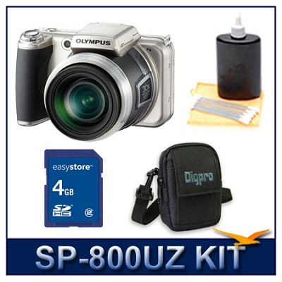 SP-800UZ 14 Megapixel 30x Zoom Digital Camera w/ 4 GB Memory Kit