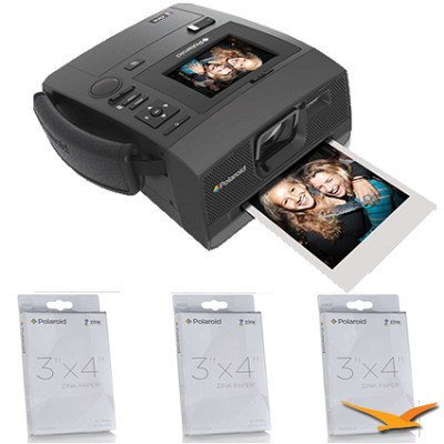 Z340  3x4 Instant Digital Camera Bundle with 90 sheets on 3x4 Zinc Paper