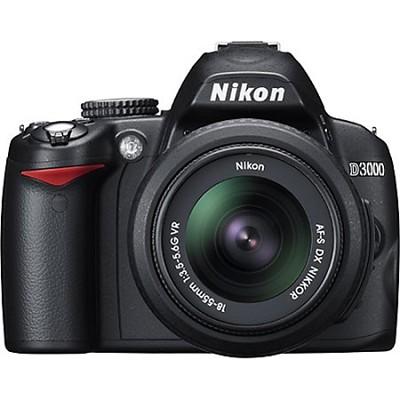 D3000 DX-format Digital SLR Kit w/ 18-55mm DX VR Zoom Lens