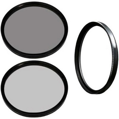 HK-DG67 67mm Digital Filter Kit With UV Circular Polarizer and Pouch NDX8