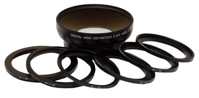 Professional .45X Wide Angle Lens - 62mm (with rings from 49mm to 72mm)