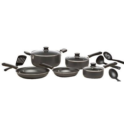 12-Piece Admiration Nonstick Dishwasher Safe Cookware Set - C957SC74