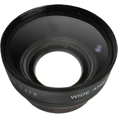 Pro .43x Wide Angle Lens w/ Macro 58mm Threading (Black)