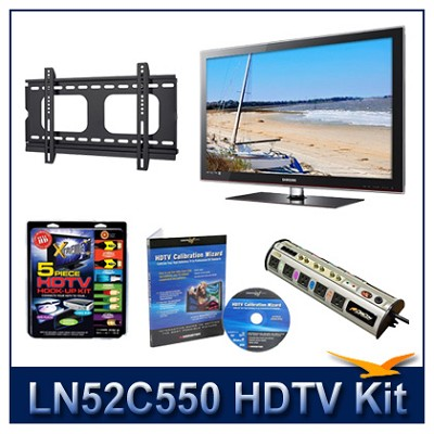 LN52C550 52` HDTV + Flat Mount + Hook-Up + Power Protection + Calibration DVD