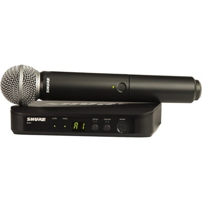 Wireless Vocal System with SM58 Microphone, J10 (BLX24/SM58-J10)