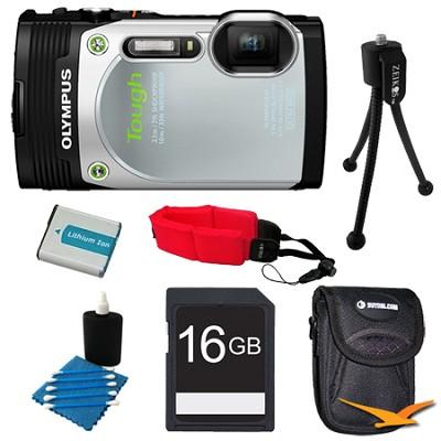 TG-850 16MP Waterproof Shockproof Freezeproof Digital Camera Silver Kit