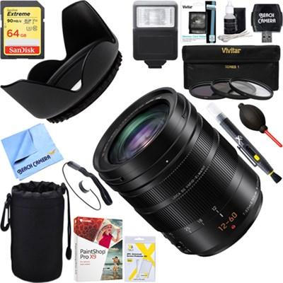 LUMIX LEICA DG VARIO-ELMARIT 12-60mm F2.8-4.0 Lens + 64GB Ultimate Kit