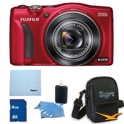 FinePix F770EXR 16MP EXR CMOS Digital Camera 4 GB Bundle (Red)