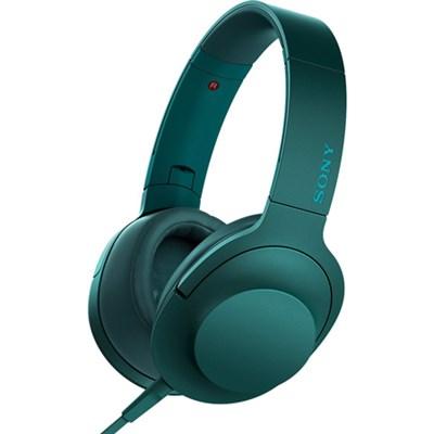 MDR100AAP h.Ear on Premium On-Ear Stereo Headphones - Viridian Blue - OPEN BOX