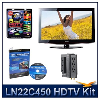 LN22C450 HDTV + High-performance Hook-up Kit + Power Protection + Calibration