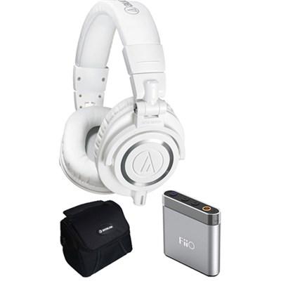 ATH-M50X Professional Studio Headphones Ultimate Amplifier Bundle $40 Gift Card