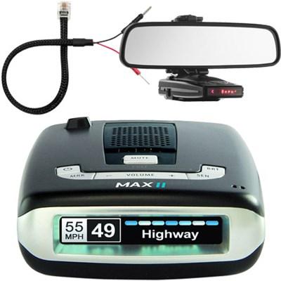 Max II HD Radar Detector w/ Mount & Power Cord Bundle