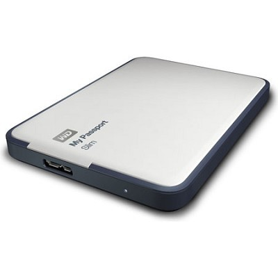 My Passport Slim 1TB Portable Metal External Hard Drive USB 3.0 w/ Cloud Backup