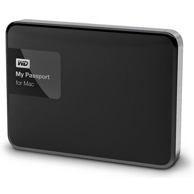 My Passport for MAC 1 TB Hard Drive, Black/Silver
