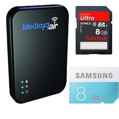 84-000031-01 Portable Wi-Fi Streaming Media Storage W/ 2 8GB SD Cards