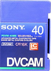 MINI DV-CAM 40 Minute Video Tape