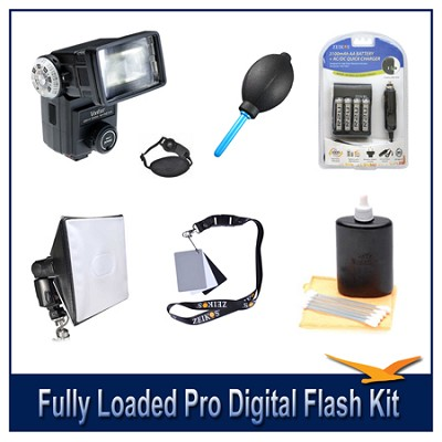 Fully Loaded Pro Digital Flash Kit For all Digital SLR Cameras