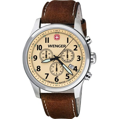 Men's Terragraph Chonograph Watch - Sand Dial/Brown Leather Strap