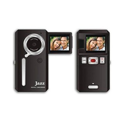 Video Recorder with Camera, Color LCD, YouTube/Facebook/Flickr Ready - Black