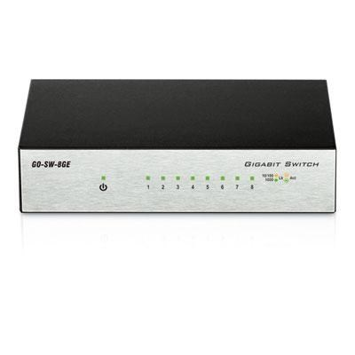 8-Port Gigabit Unmanaged Desktop Switch - GO-SW-8GE