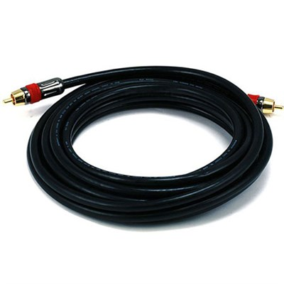 15FT High-Quality Coaxial Audio/Video RCA CL2 Rated Cable 75ohm - 6306