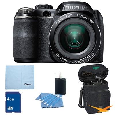 FinePix S4500 30x Optical Zoom 14 MP 3 inch LCD Digital Camera 4 GB Bundle