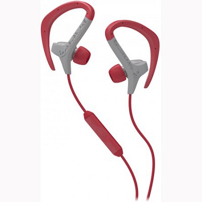 Chops In-Ear Buds with Mic (Grey/Red)(S4CHDM-124)