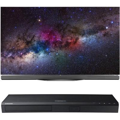 OLED65E6P - 65` 4K Ultra HD Smart OLED TV w/ UBD-K8500 3D 4K UHD Blu-ray Player