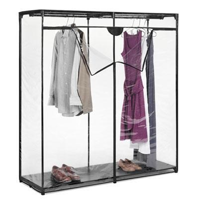 60` Extra Wide Clear Clothes Closet - 6013-167