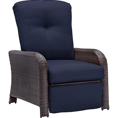Strathmere Luxury Recliner in Navy Blue - STRATHRECNVY
