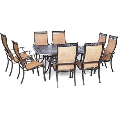 Manor 9-Piece Dinning Set with 60-In. Square Table - MANDN9PCSQ
