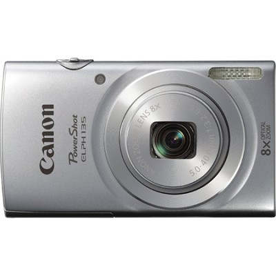 PowerShot ELPH 135 16MP 8x Optical Zoom Digital Camera - Silver
