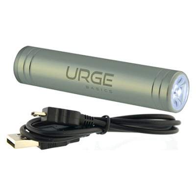 Flash Tube Pro 2600mAh Battery with Flashlight (Silver)