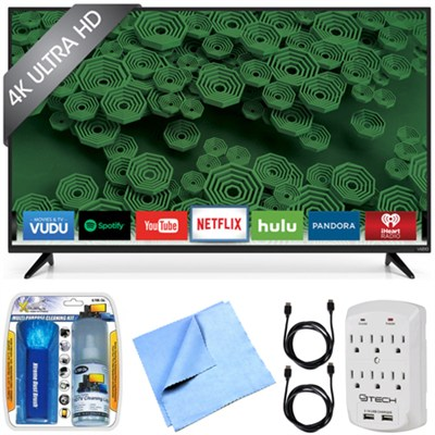 D55u-D1 D-Series - 55-Inch 120Hz 4K Ultra HD LED Smart HDTV Essentials Bundle