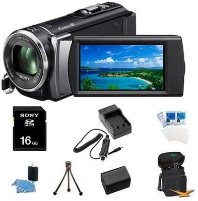HDR-CX200 HD Camcorder 5.3 MP Stills 25x Optical Zoom (Black) Bundle
