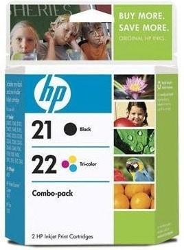 PS HP 21/22 Combo-pack Inkjet Print Cartridges