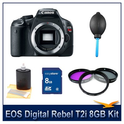 EOS Digital Rebel T2i Camera 8GB Kit