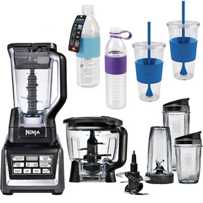 BL682 - 1500 Watt Nutri Auto-iQ Blender System Mobile To Go Cup & Bottle Bundle